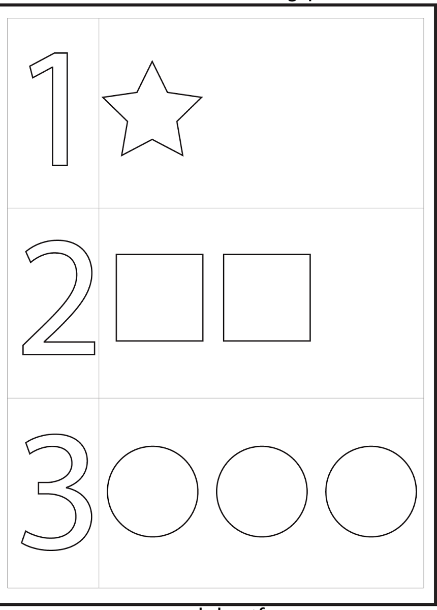 4 Year Old Worksheets Printable Numbers Preschool