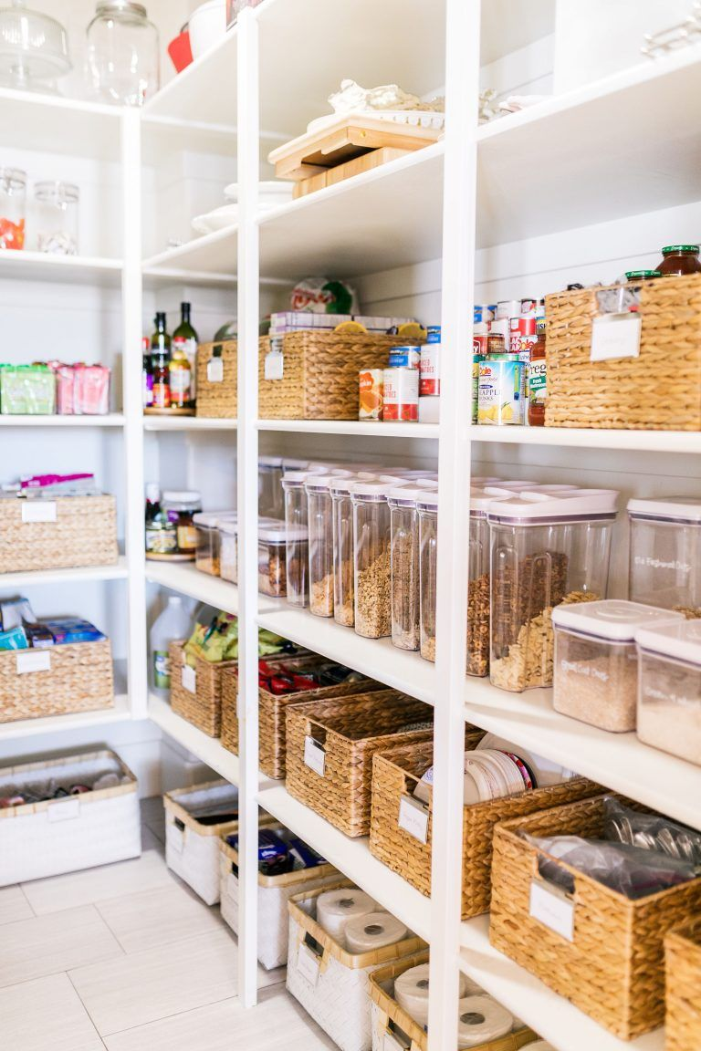 small pantry organization tips the easiest way to keep it Organizing The Kitchen Area With A Dainty Kitchen Backsplash Decoration Model id=25751