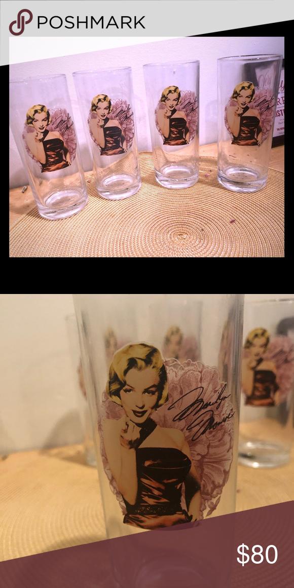 55e3e3eb5e372 Marilyn Monroe Collins glass set Vintage collectors edition. Accessories