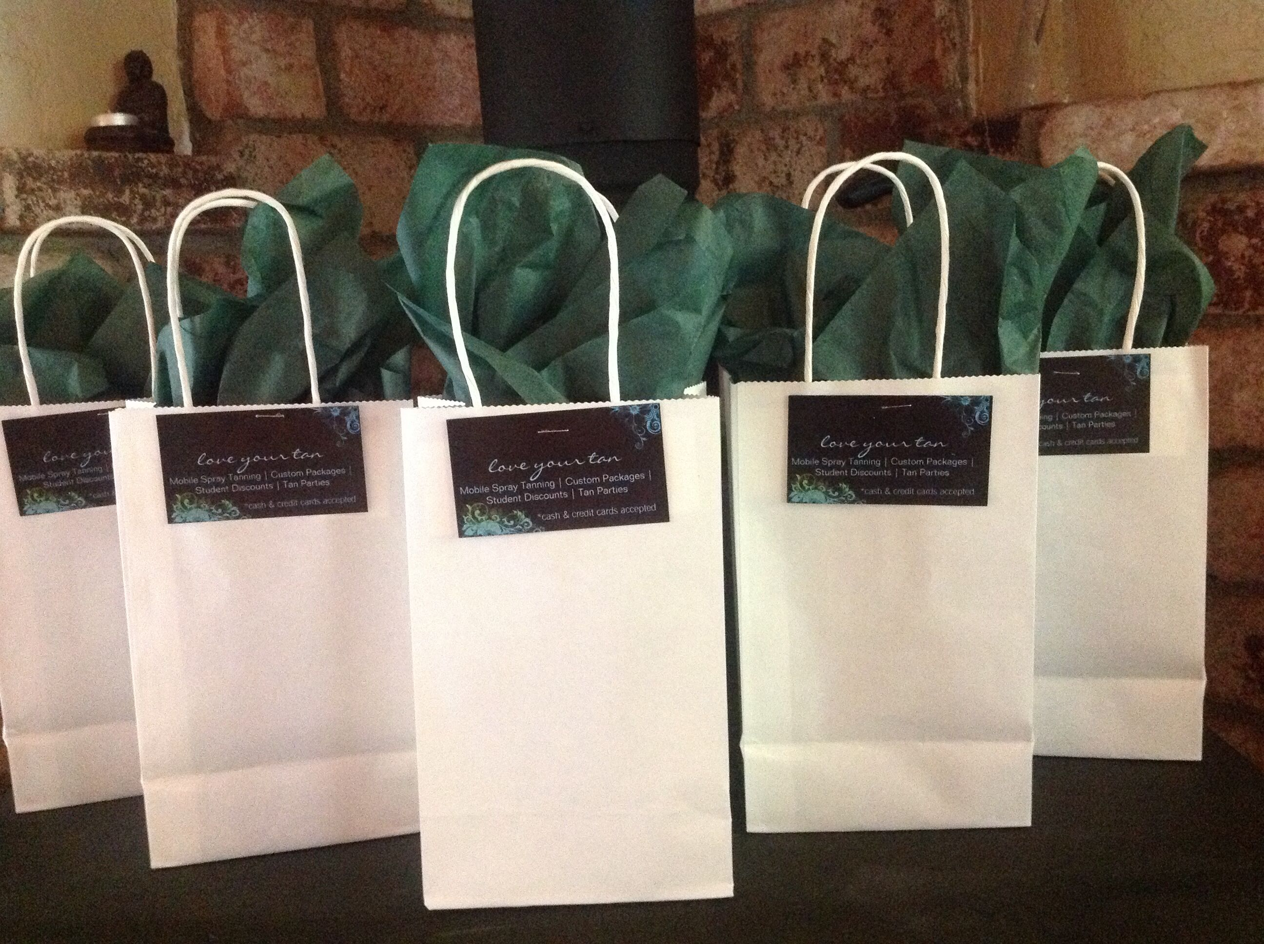 Gifts and certificates, love your tan. Organic mobile spray tanning.