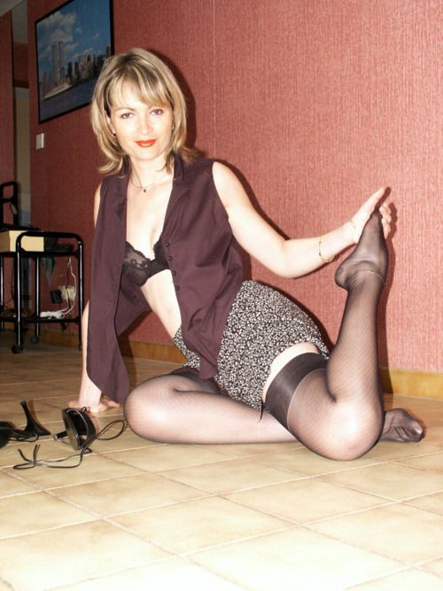 Mature housewife stockings
