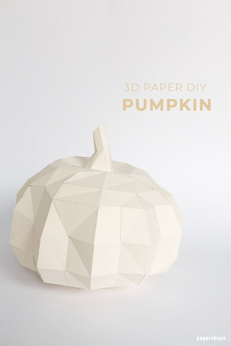 How Do I Make A Modern 3d Pumpkin From Paper Free Template In 2018