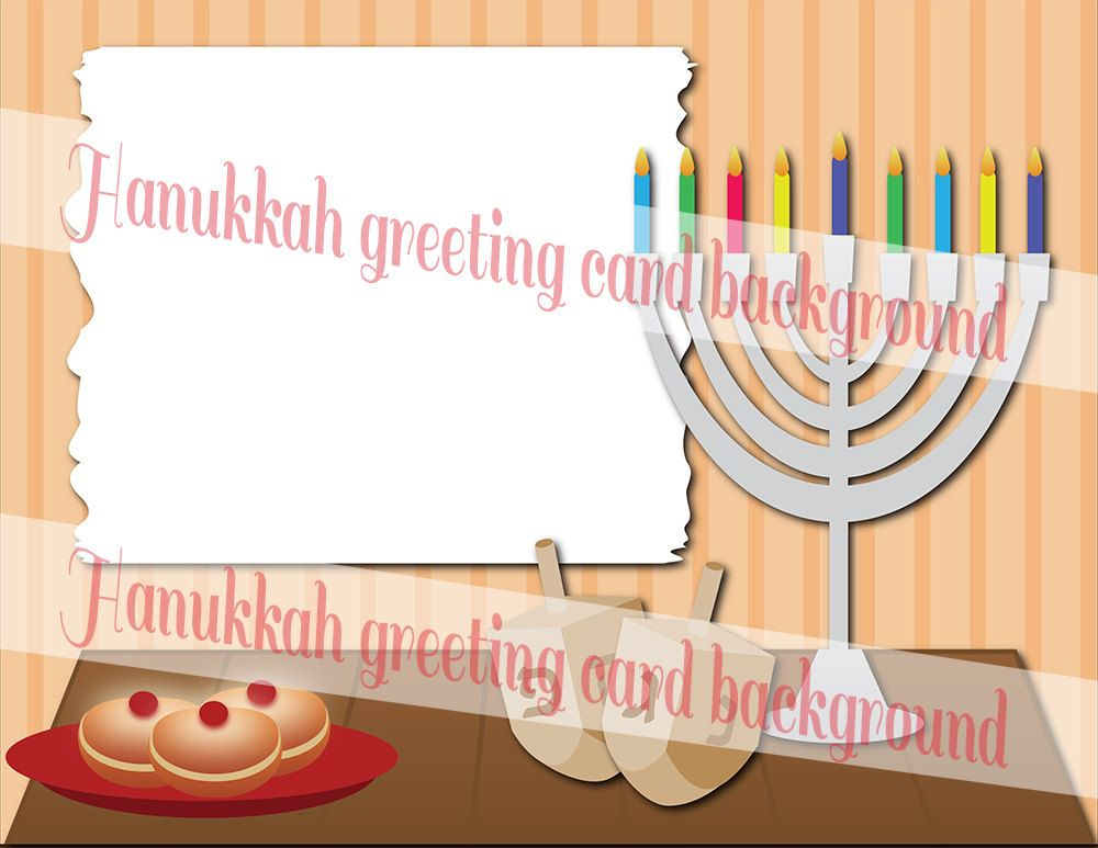 Hanukkah Instant Download Cliparts Background Jewish Holiday