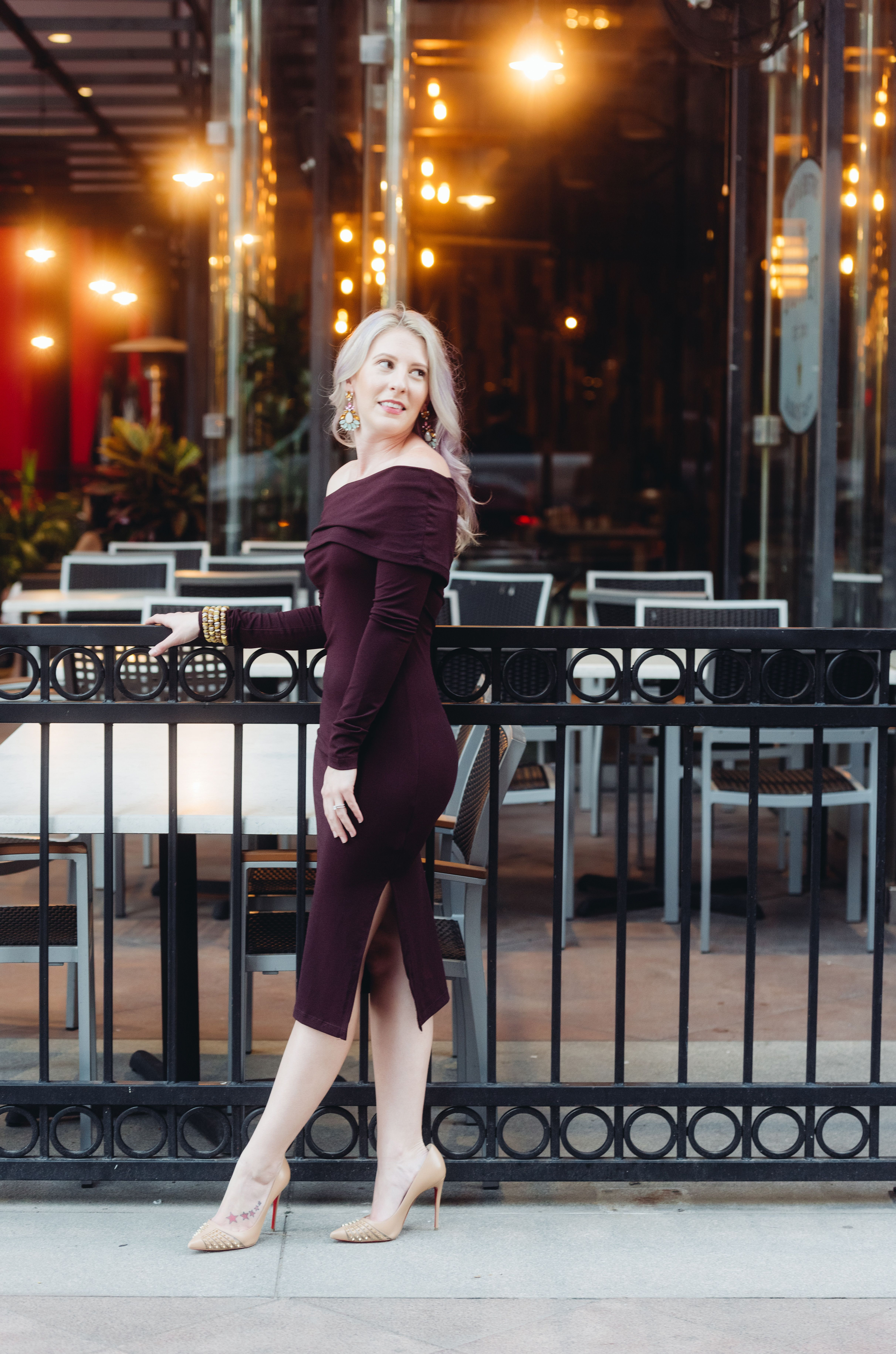 fc8efe627bf0 Holiday outfit inspiration Family Christmas Photos Dres Midi Off the Shoulder  Dress