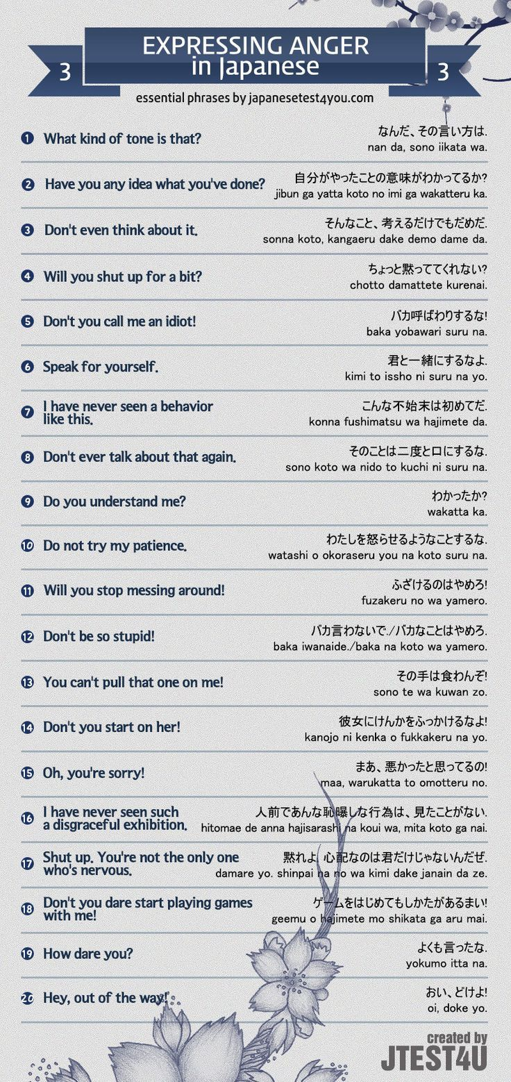 Educational Infographic Infographic Expressing Anger In Japanese