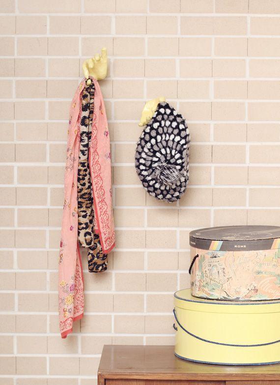 Love these paper mache hand hooks from @Amanda Johnson