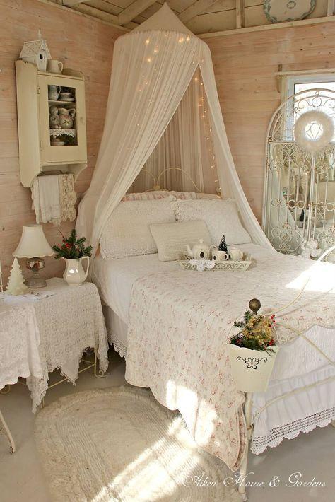 35 erstaunlich hübsch Shabby Chic Schlafzimmer Design und Dekor ...