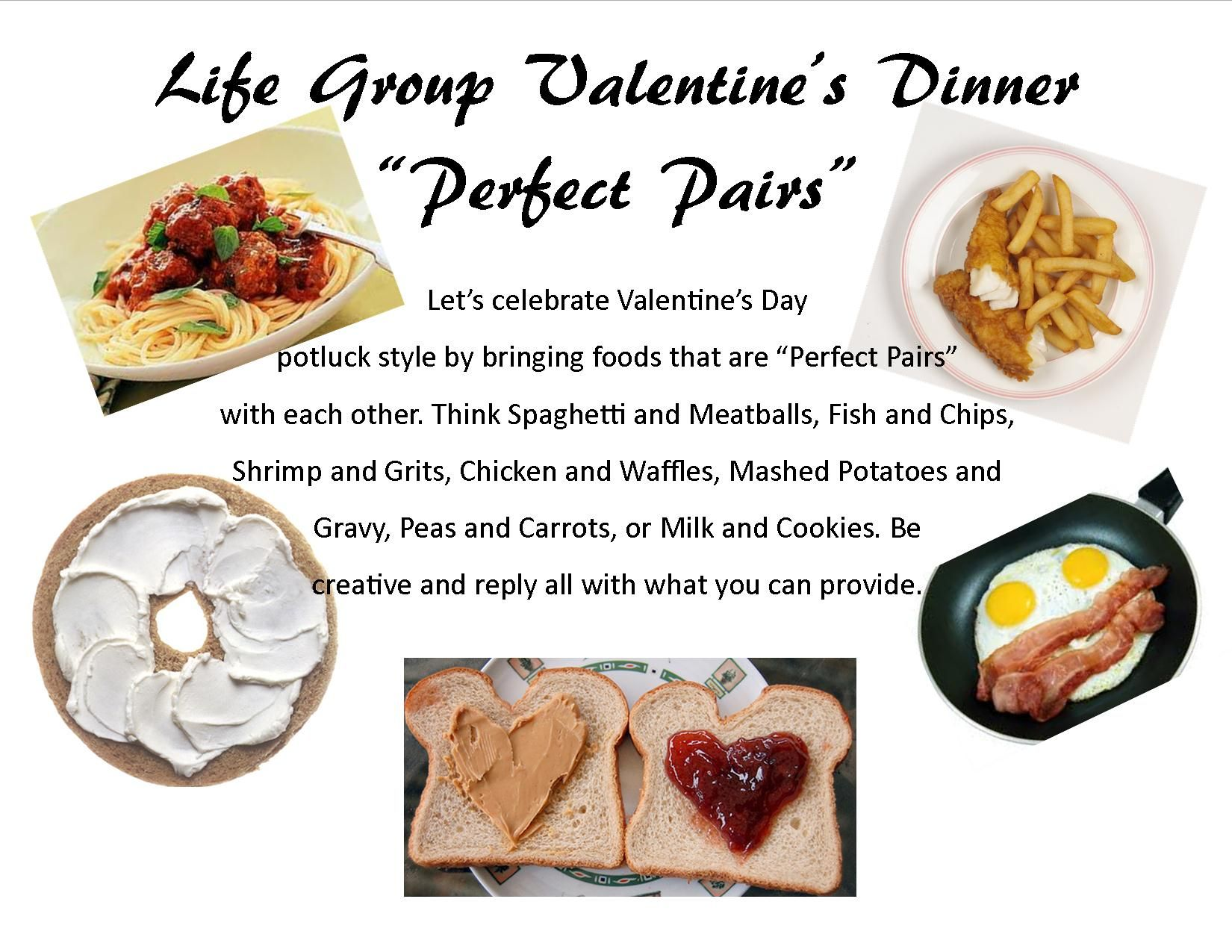 Perfect pairs potluck valentine s day themed party for Valentines dinner party ideas