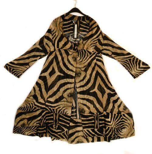 Kamuflage Atemberaubende Tiger Print Layering Mantel-Kamuflage ...