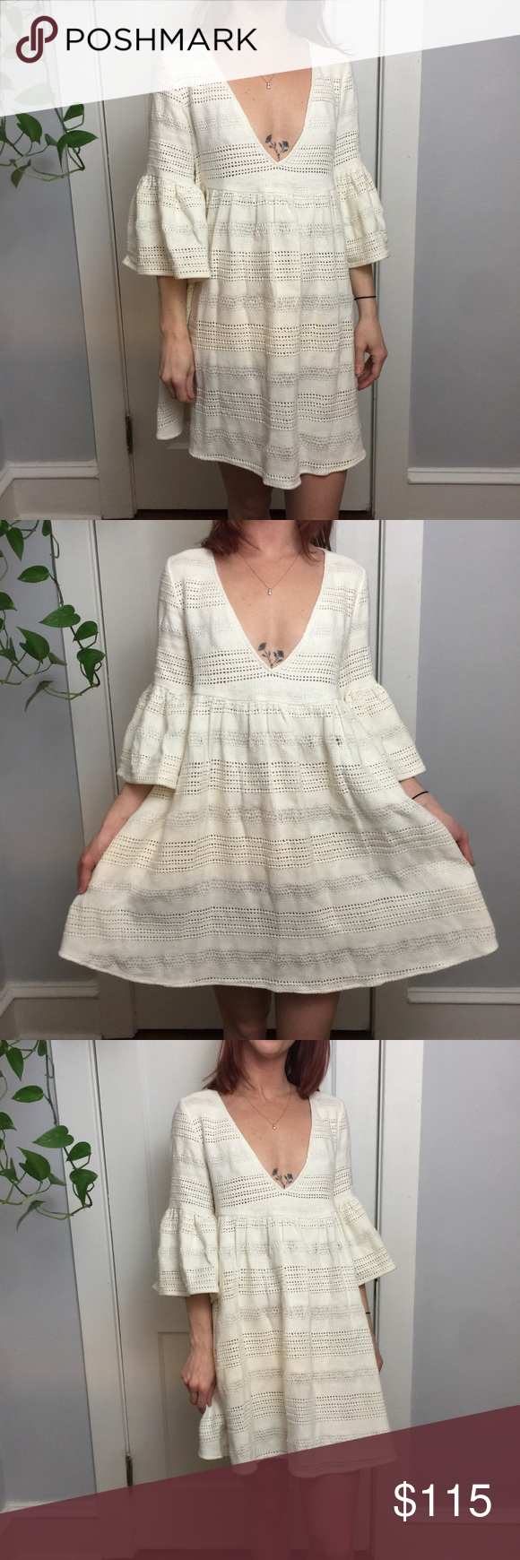 Mara Hoffman Swim Crochet Bell Sleeve Beach Dress Amazing, size small and is Bell Sleeve like partially sheer and is in great condition worn a few times on vacation. Mara Hoffman Dresses Midi #crochetbeachdress