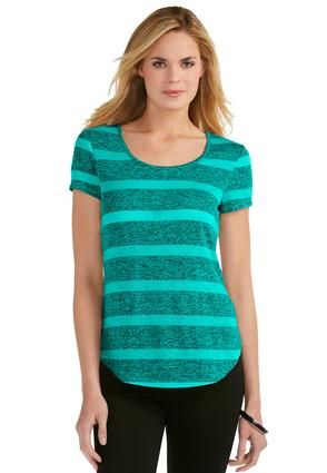 54fa028b34a3b Cato Fashions Mixed Media High-Low Striped Top  CatoFashions. Striped  TopsPlus Size ...