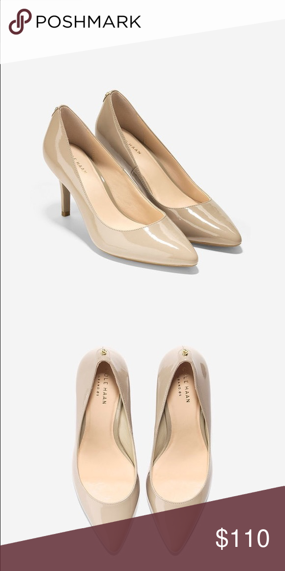 NIB Cole Haan Prieta Patent Leather Nude Pump 9W BRAND NEW IN BOX - Prieta Pump - maple sugar patent leather. These are 9 C aka 9 Wide!!!! Sold out online Cole Haan Shoes Heels