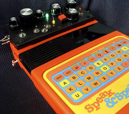 circuit bent speak and spell vintage glitch synth my style pinterest rh pinterest com