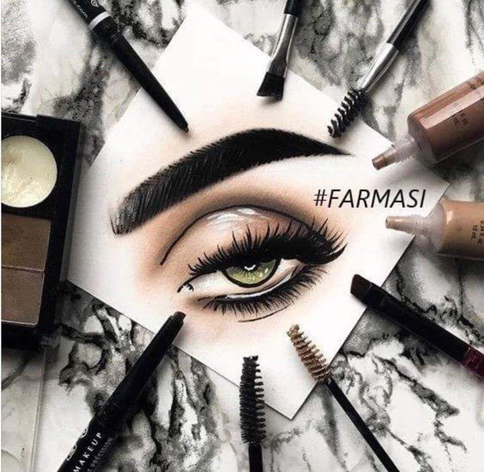 Makeup Vixens Maskenbildner Logo Schminkzeug Face Chart