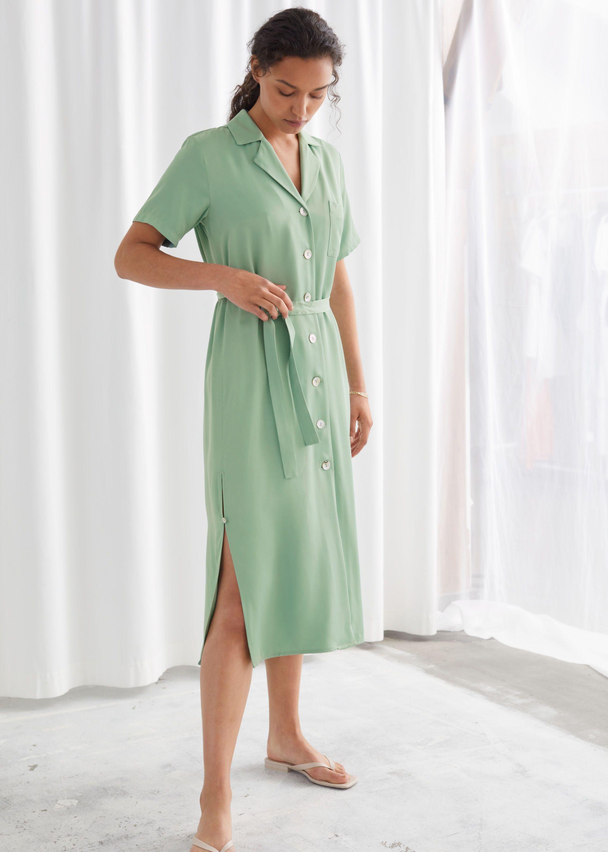 Satin Shirt Midi Dress Midi Shirt Dress Shirt Dress Satin Shirt [ 2940 x 2100 Pixel ]