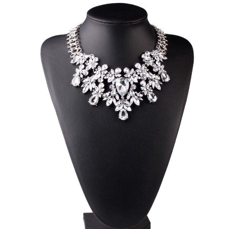 Women Fashion Luxury Statement  Flower Necklace