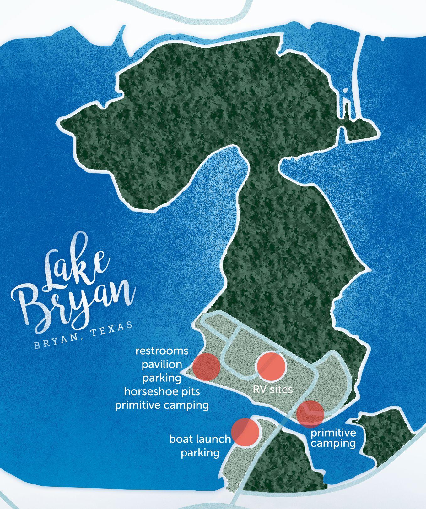 Lake Bryan Map Bryan Texas Texas Camping Park