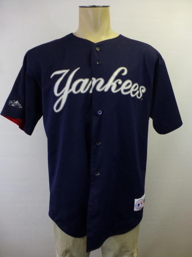 huge selection of 9c3c9 91638 Mens Majestic New York #Yankees #2 Derek Jeter Reversible ...