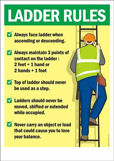 Safety Poster Ladder Rules Safety Poster Shop Be