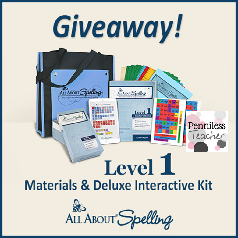 All About Spelling Giveaway (X 8/4/14)