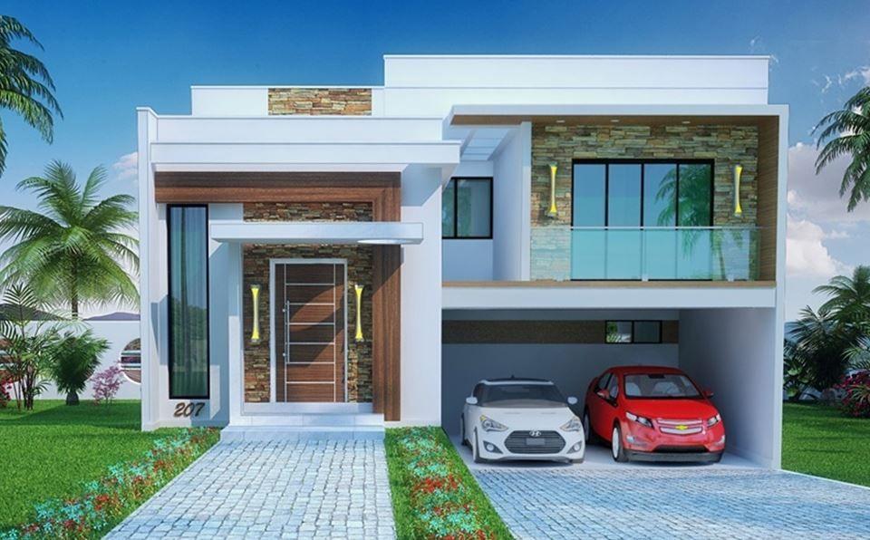 fachadas de casas modernas de 8 metros de frente 10 de