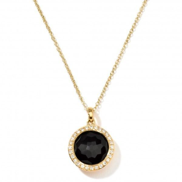 """Ippolita 18K Gold Mini Lollipop Pendant Necklace with Diamonds 16-18"""" ($1,195) ❤ liked on Polyvore featuring jewelry, necklaces, accessories, colar, gold jewelry, pendants & necklaces, 18 karat gold jewelry, gold necklaces and yellow gold pendant necklace"""