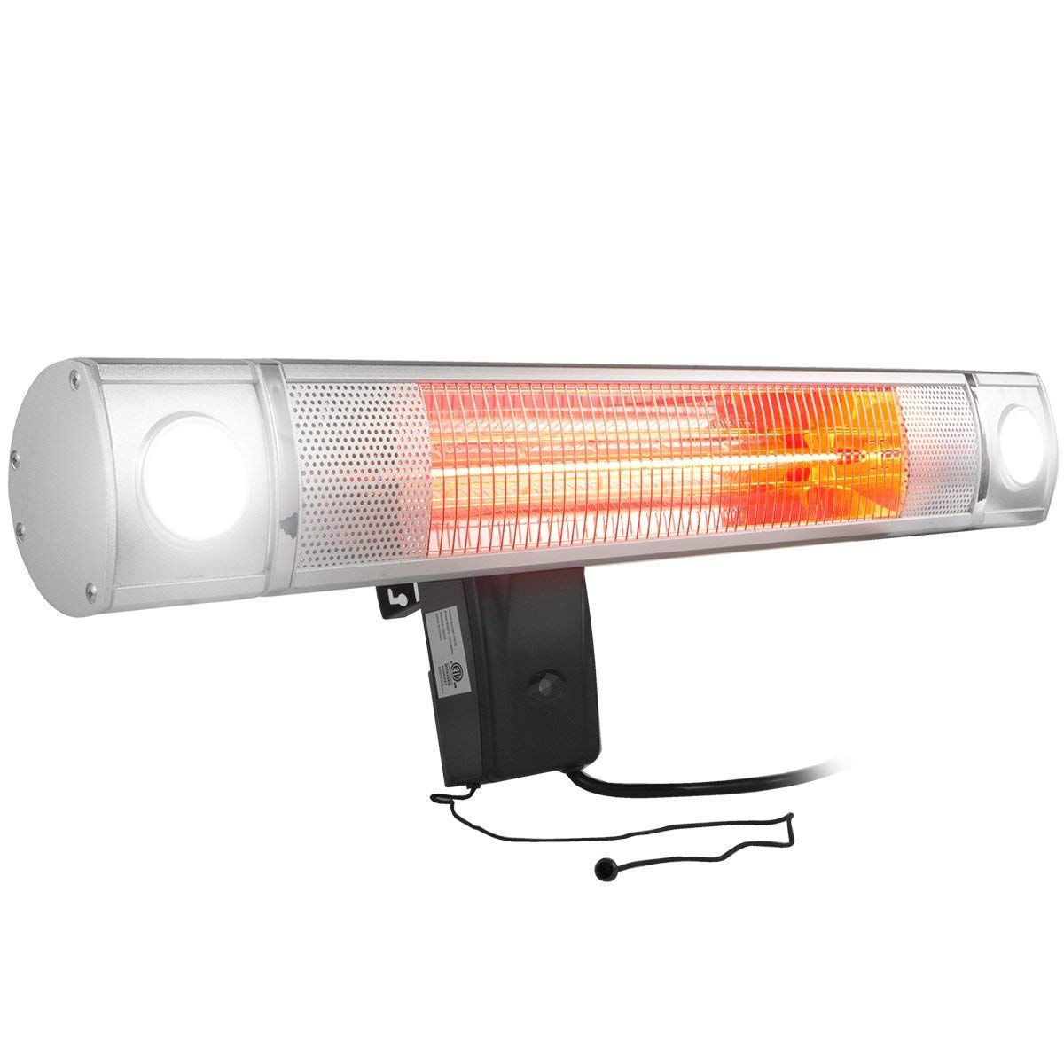 Xtremepowerus wallmounted infrared watt heater