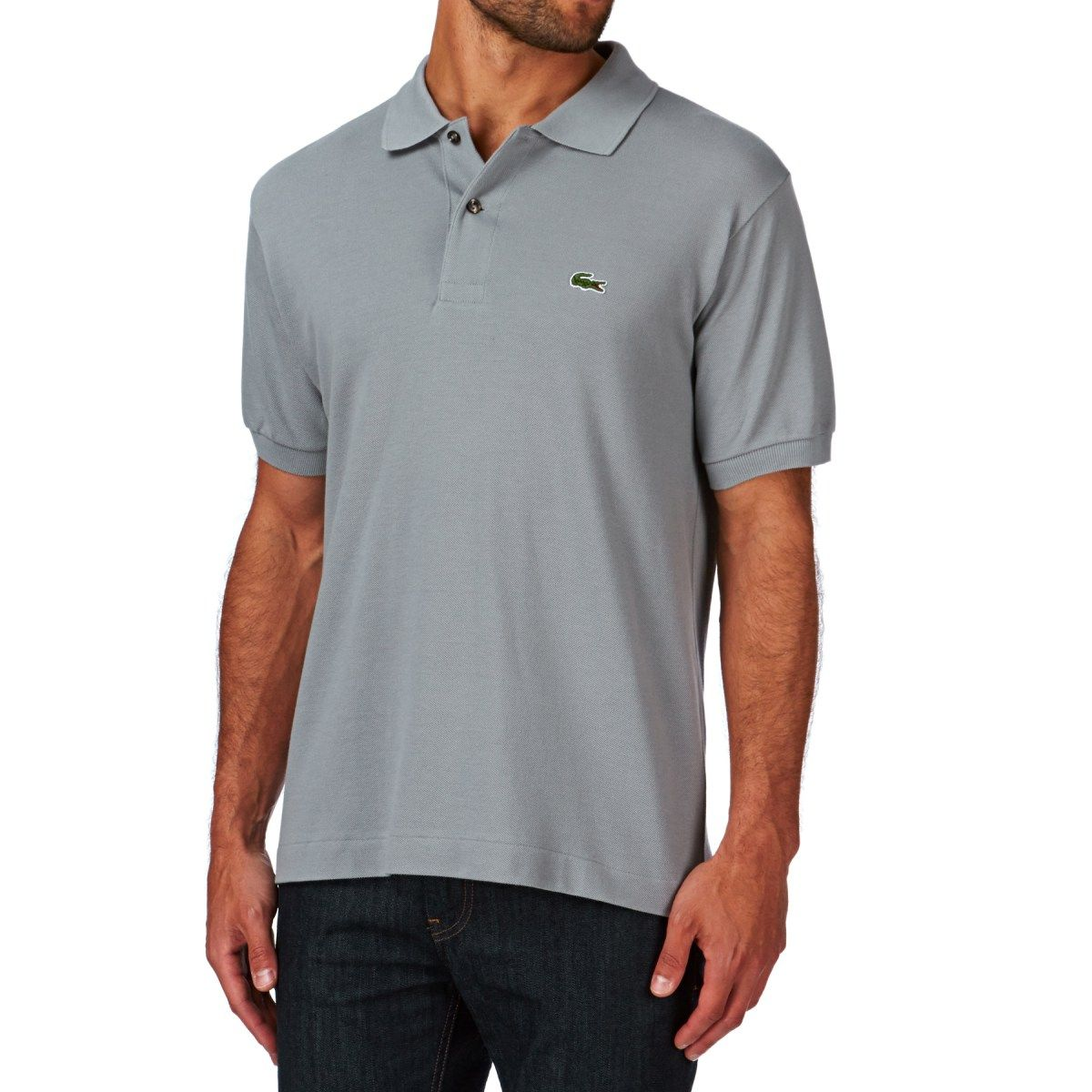 Men's Lacoste Polo Shirts - Lacoste L.12.12 Polo Shirt - Grey