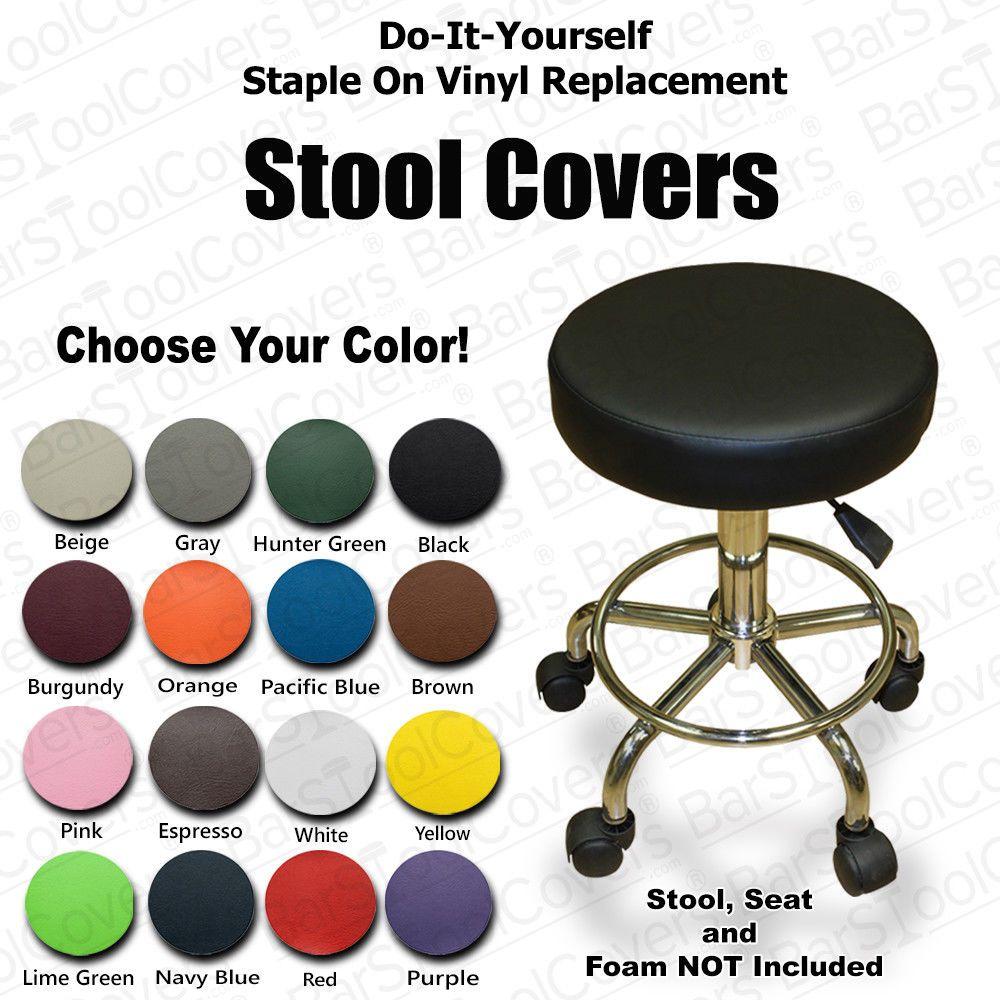 Details About Exam Stool Seat Cover Replacement Vinyl Staple On Massage Salon Office Pub Bar Stool Covers Bar Stools Stool Covers