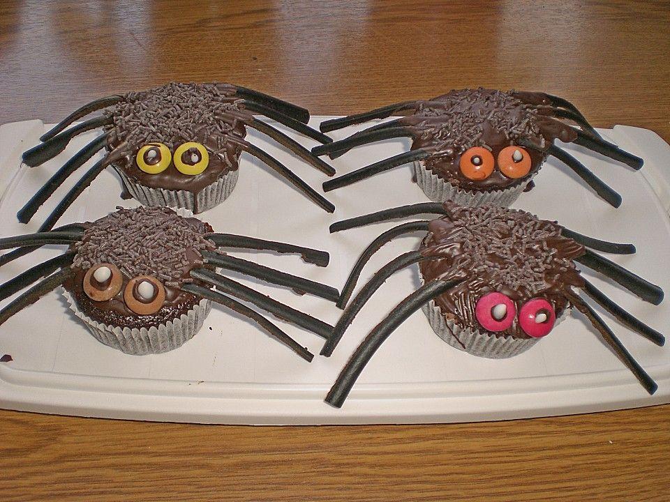 Spinnenmuffins für Halloween Rezept Halloween rezepte