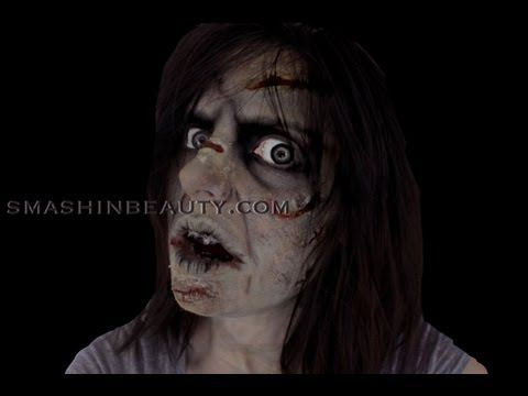 The exorcist makeup tutorial | mykie (glam and gore) | halloween.