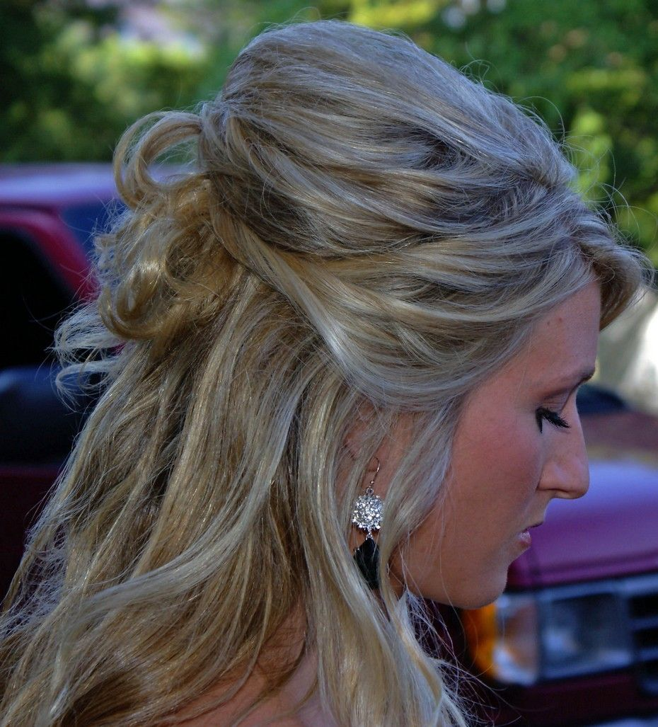 Half up half down with curls maybe add some fancy accessories