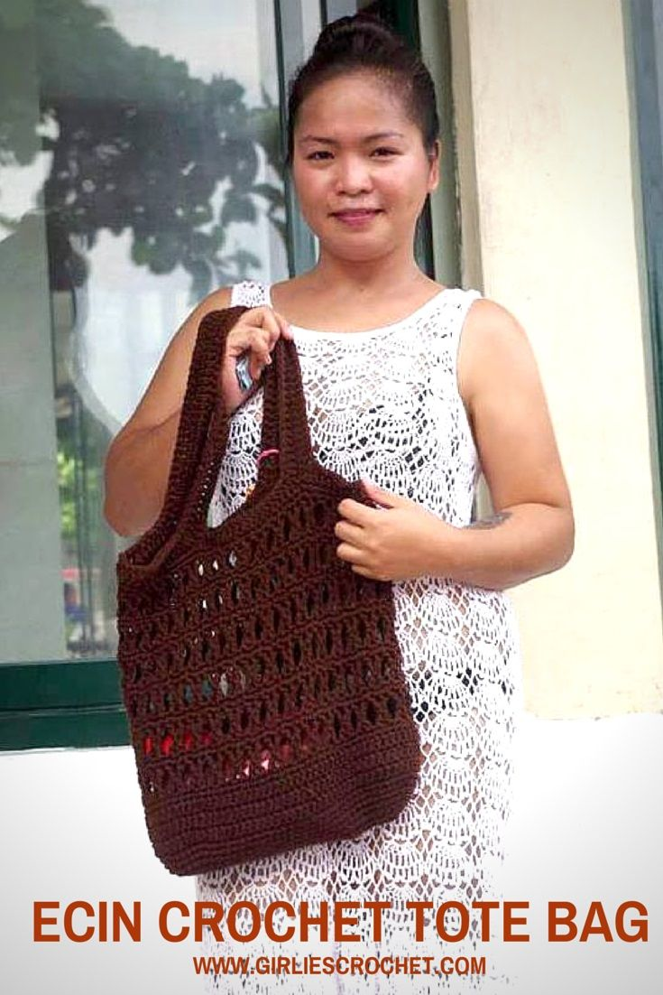 free crochet pattern, boho bag, easy patterns, summer bag, red heart ...