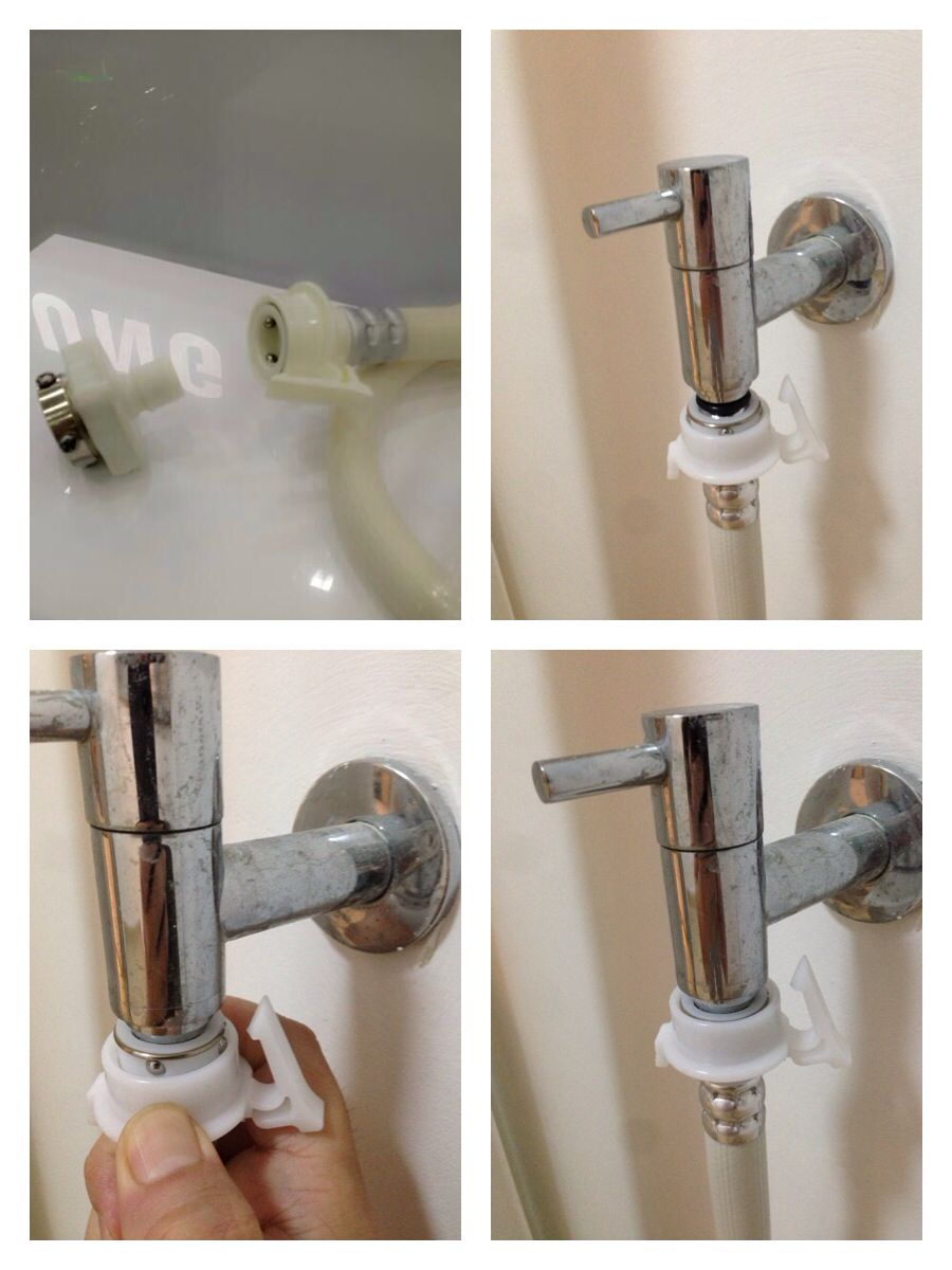 How to fix HDB service yard tap for front loader washing machine ...
