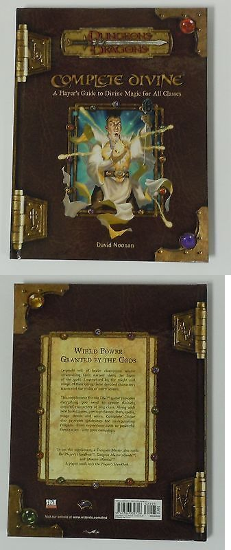 d&d 3.5 edition complete divine new roleplaying d20 dungeons dragons