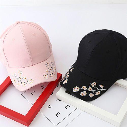 Baseball Cap Ladies Snapback Cap Hat Women Embroidered Cherry ... b6ae3eb5aa4