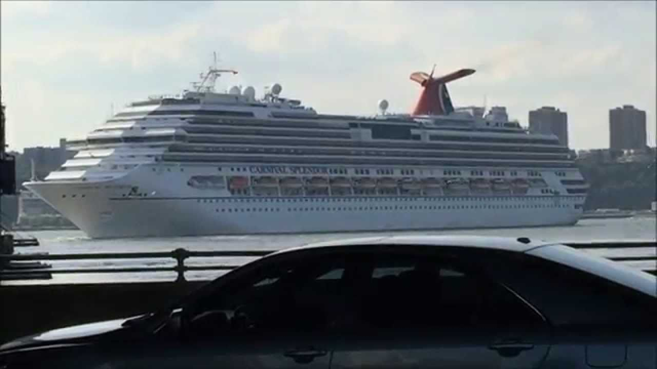 Nice Several SCENES OF THE CARNIVAL SPLENDOR CRUISE SHIP LEAVING - Cruise ships from nyc