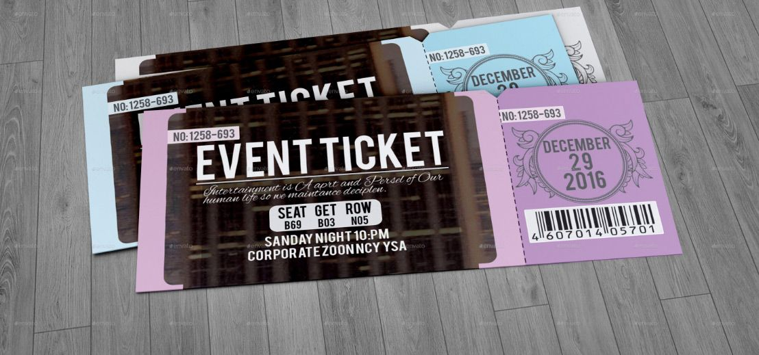 Ticket Design 20 Creative Examples And Templates