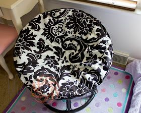 Fabulous No Sew Papasan Slipcover Need To Try This For Our Old Gmtry Best Dining Table And Chair Ideas Images Gmtryco