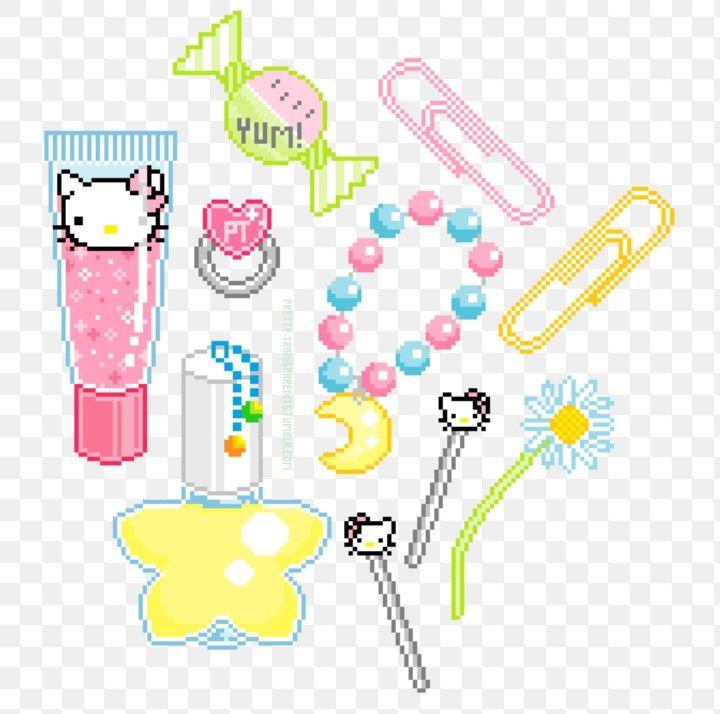 Hello Kitty Tumblr Png Pixel Art Art Graphic Arts Illustration