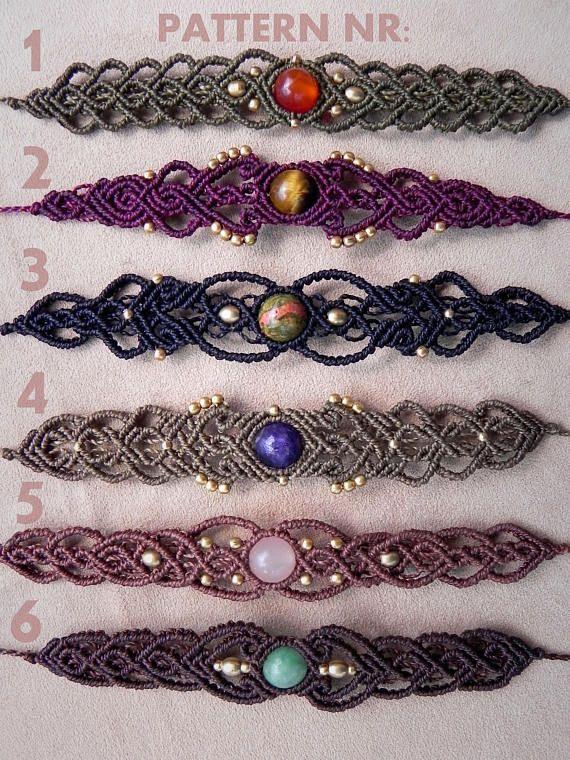 Macrame BOHO Bracelet ,Rose Quartz Gemstone, Heart Chakra Tribal Bracelet, Birthstone Bohemian Spiritual Jewelry Healing Crystals