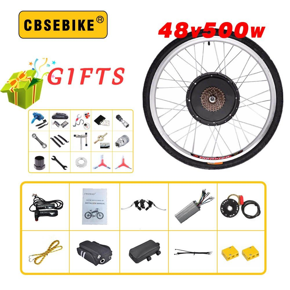 Cbsebike 48v500w Torque Sensor Ebike Kit Electric Bike Conversion