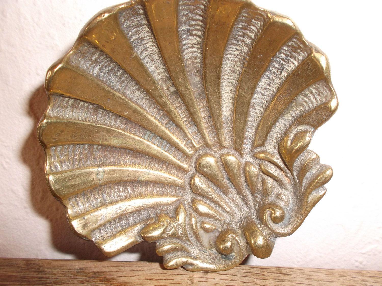 Art nouveau brass shell dish vintage boudoir vanity dressing table art nouveau brass shell dish vintage boudoir vanity dressing table trinket tray 1900s by retromagination on geotapseo Gallery