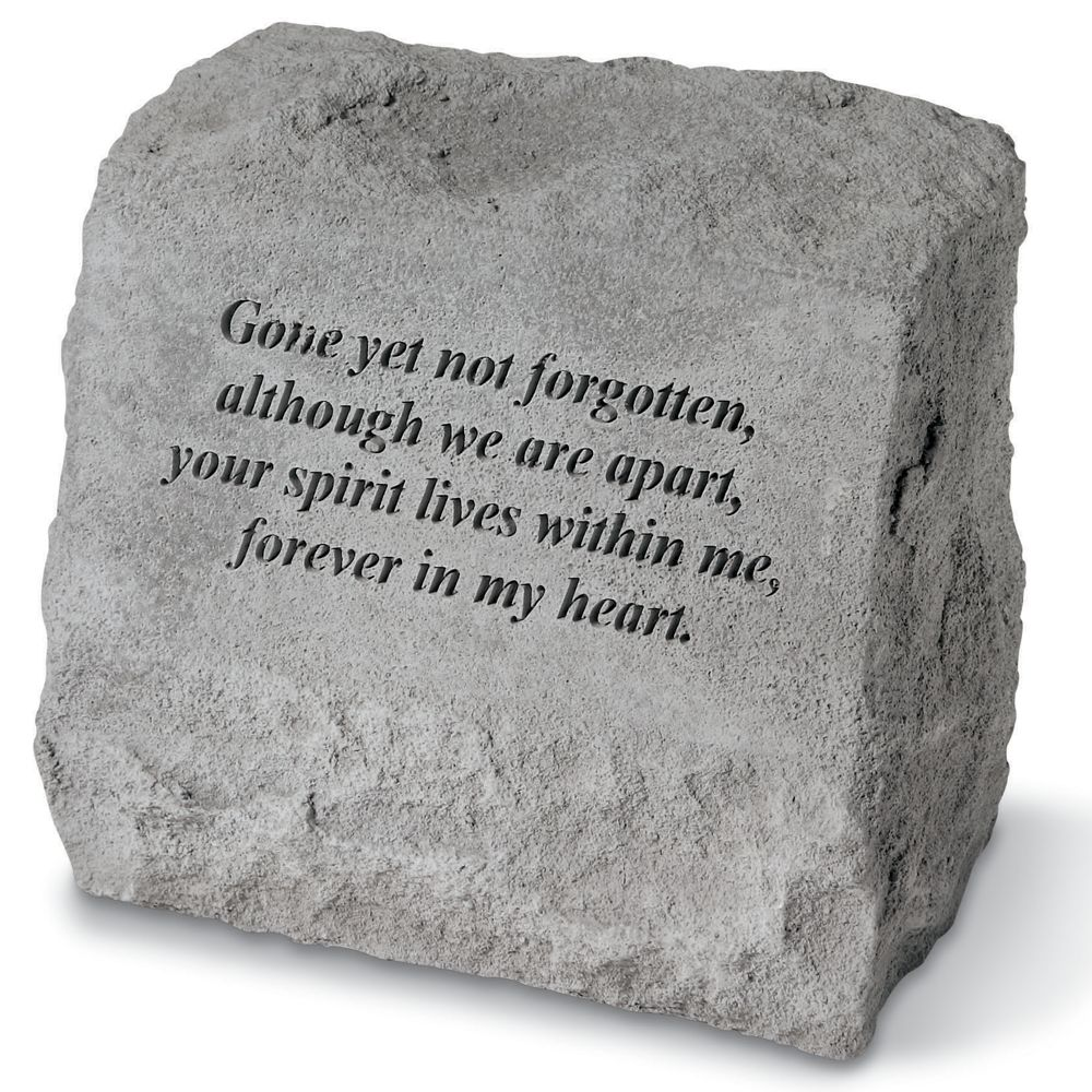 Kay Berry Not Forgotten Pet Memorial Stone With Urn