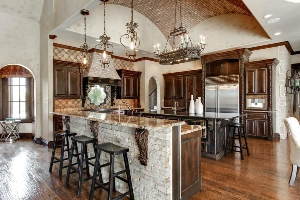 The Different Shapes Of Large Kitchen Island Designs For - Medieval Kitchen Design