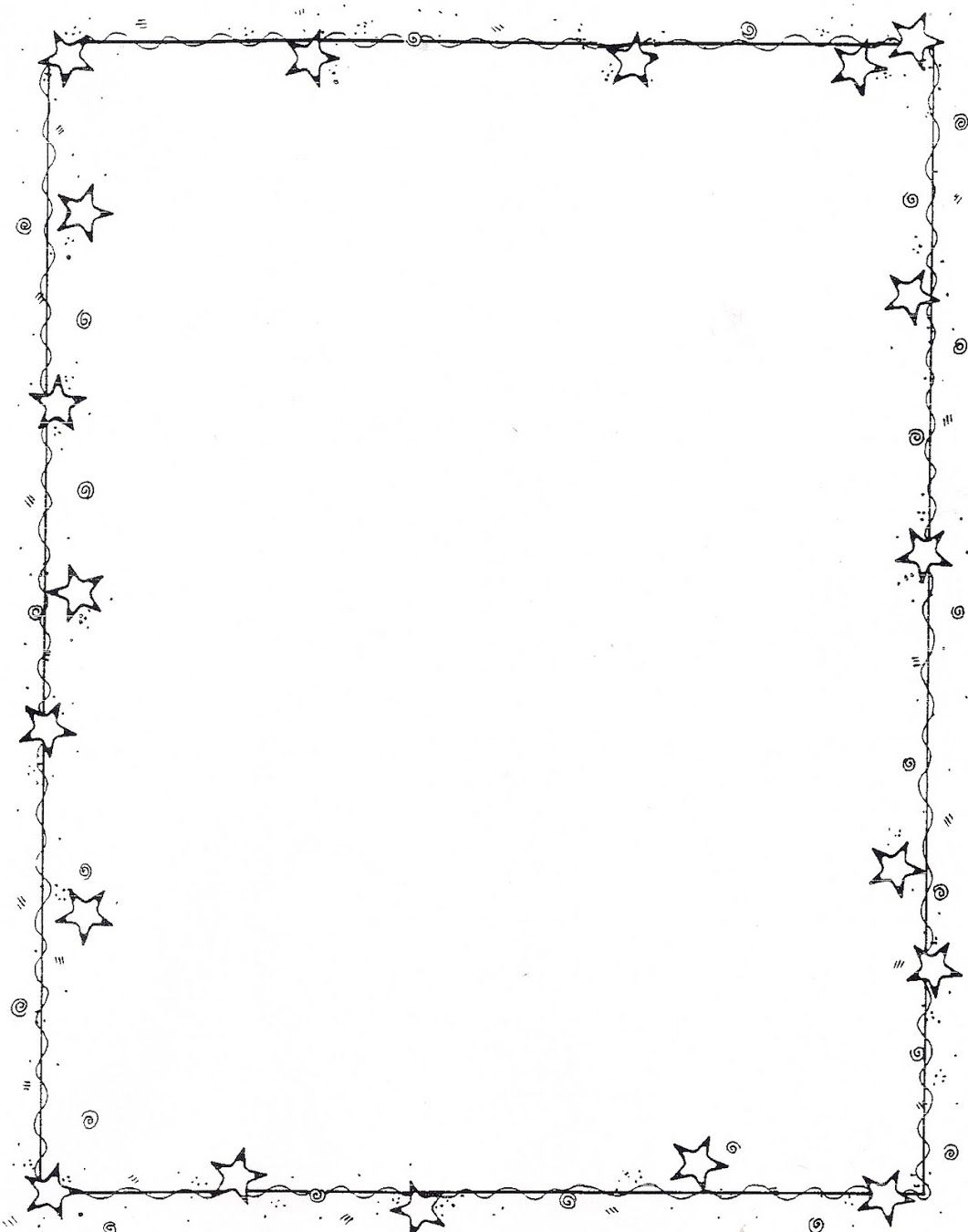 Star Border Borders For Paper Borders And Frames Page Borders