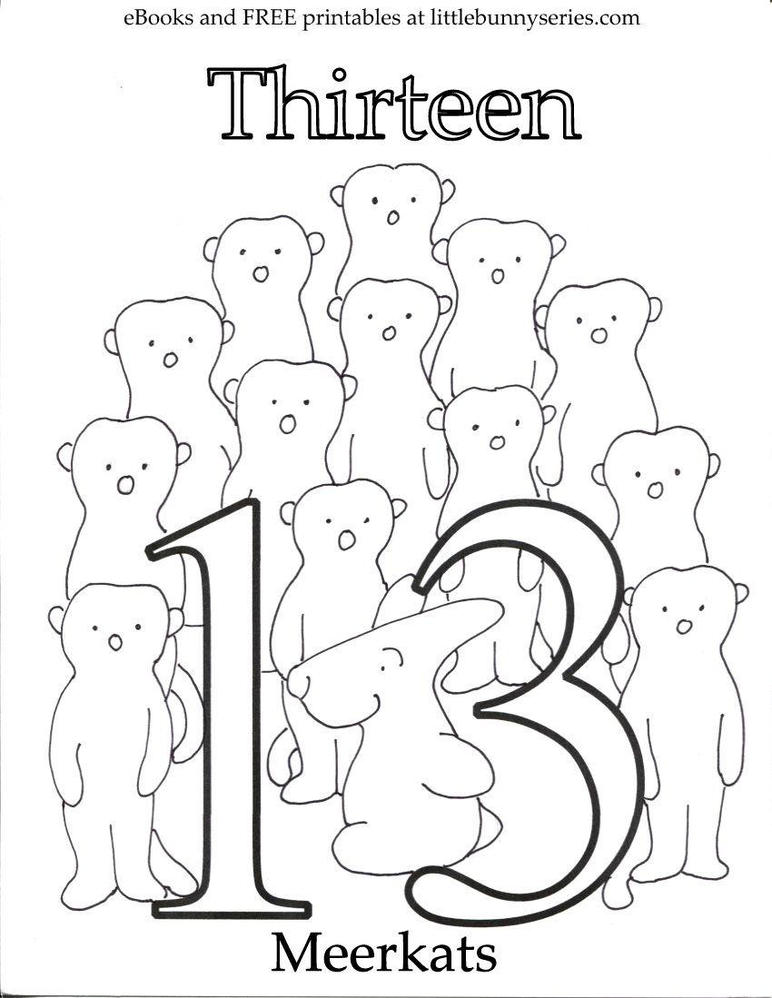 Number 13 Coloring Page Pdf Preschool Number Worksheets Coloring Pages Numbers Preschool