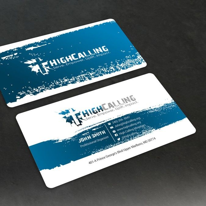 design a modern business card design for a church called high calling ministries by alex etel - Church Business Cards