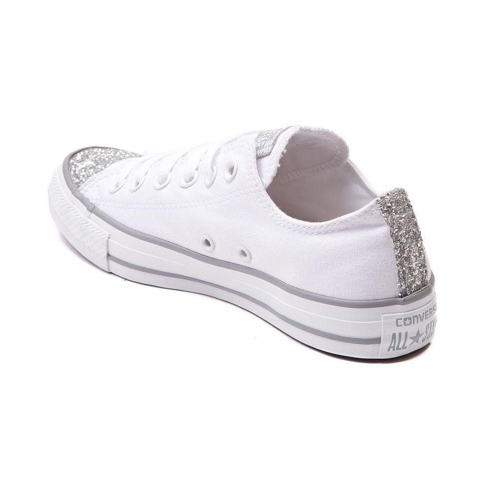 56f2b17c01e16f Womens Converse Chuck Taylor All Star Lo Glitter Toe Sneaker More