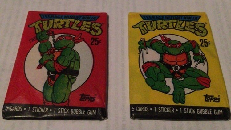 2 unopened packs teenage mutant ninja turtle trading
